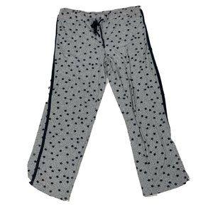 Lucky Brand star printed tuxedo stripe pajama pant